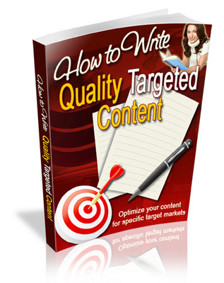 Product picture How To Write Quality Targeted Content ++With MRR++
